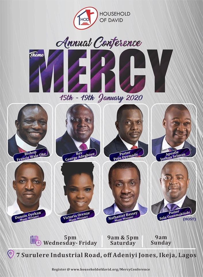 household OF David Mercy Conference 2020